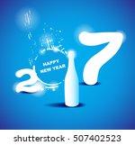 2017 happy new year creative... | Shutterstock .eps vector #507402523