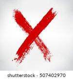 grunge letter x.hand drawn x... | Shutterstock .eps vector #507402970