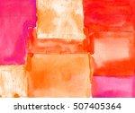 watercolor geometric pattern.... | Shutterstock . vector #507405364