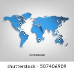 3d world map with shadows and... | Shutterstock .eps vector #507406909