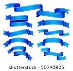 blue banners | Shutterstock .eps vector #50740825