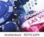 casino games concept 3d...   Shutterstock . vector #507411694