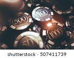 casino chips gambling concept... | Shutterstock . vector #507411739