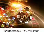 golden casino roulette chips...