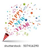 happy new year greeting card | Shutterstock .eps vector #507416290