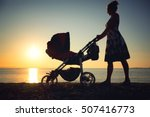 young mother rolling baby... | Shutterstock . vector #507416773