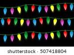Set Of Color Christmas Light...