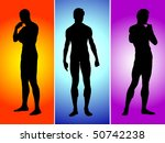 image of vector three boys... | Shutterstock . vector #50742238