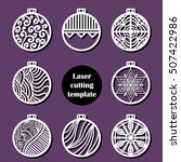 laser cut christmas decoration... | Shutterstock .eps vector #507422986