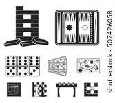 board games set icons in black... | Shutterstock .eps vector #507426058