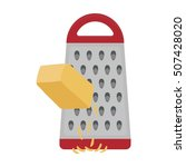 grating cheese icon in cartoon... | Shutterstock .eps vector #507428020
