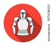 plate armor icon in flat style... | Shutterstock .eps vector #507428023