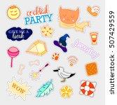 fashion patch badges. big set.... | Shutterstock . vector #507429559
