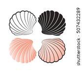 sea shells color variations... | Shutterstock .eps vector #507432289