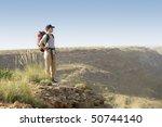 hiker standing on top of... | Shutterstock . vector #50744140