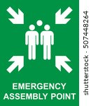 emergency evacuation assembly... | Shutterstock .eps vector #507448264