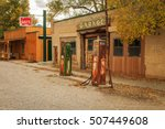 old garage and cafe in rural... | Shutterstock . vector #507449608