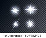 optical flares  transparent... | Shutterstock .eps vector #507452476