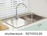 Modern kitchen sink  green tone