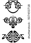 stylization of an ancient... | Shutterstock .eps vector #507453718