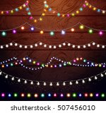 christmas lights set  colored... | Shutterstock .eps vector #507456010