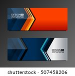 banner background design with... | Shutterstock .eps vector #507458206