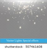white sparks and golden stars... | Shutterstock .eps vector #507461608