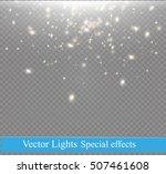 white sparks and golden stars... | Shutterstock .eps vector #507461608