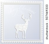 merry christmas white paper... | Shutterstock . vector #507469333