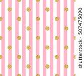 seamless gold dot glitter... | Shutterstock . vector #507475090