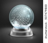 christmas snow globe isolated...