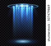 ufo light beam  aliens... | Shutterstock .eps vector #507479869