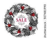christmas sale banner. vector... | Shutterstock .eps vector #507481990