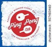 ping pong emblem. table tennis... | Shutterstock .eps vector #507483460