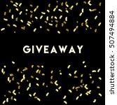 giveaway card. luxury texture.... | Shutterstock .eps vector #507494884