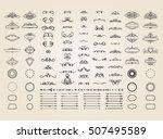 vintage borders  frame and... | Shutterstock .eps vector #507495589