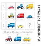 logical test. the logical task... | Shutterstock .eps vector #507496168