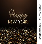 happy new year card with... | Shutterstock .eps vector #507497350