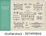 calligraphic design elements.... | Shutterstock .eps vector #507499843