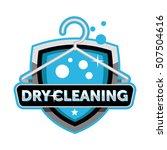 dry cleaning logo emblem... | Shutterstock .eps vector #507504616