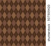 seamless argyle pattern.... | Shutterstock .eps vector #507505420