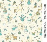 stylish merry christmas... | Shutterstock .eps vector #507507838