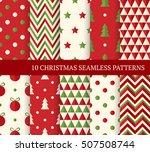 ten christmas different... | Shutterstock .eps vector #507508744