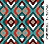 geometric seamless vector... | Shutterstock .eps vector #507508930
