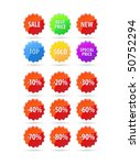 vector set of sale tags | Shutterstock .eps vector #50752294