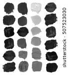 black color brush stain smears ... | Shutterstock . vector #507523030