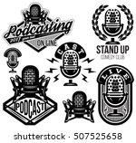 set of vector stylish retro... | Shutterstock .eps vector #507525658