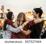 amusement carnival theme park... | Shutterstock . vector #507527404