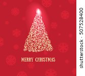 christmas greeting card with... | Shutterstock .eps vector #507528400