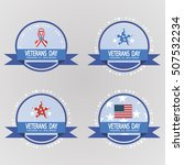 labels for veterans day.... | Shutterstock .eps vector #507532234
